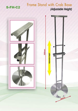 Adjustable Poster Stainless Steel Frame Stand with Round Base - abrandz