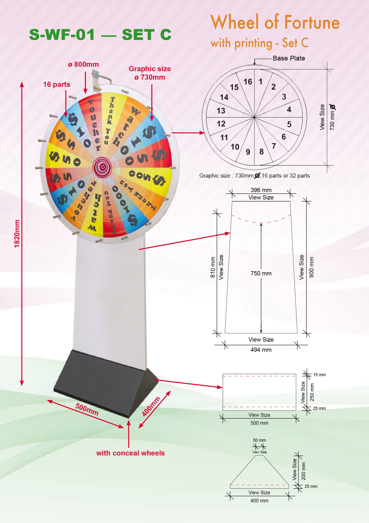 Large Wheel of Fortune (730mm Diameter)