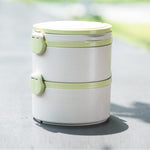Eco Friendly Two Tier Wheat Straw Lunch Box
