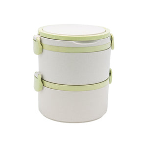 Eco Friendly Two Tier Wheat Straw Lunch Box - abrandz