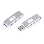 White Chrome USB Flash Drive