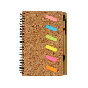 Eco-Friendly A5 Notebook with post it note & Pen - AbrandZ Corporate Gifts Singapore
