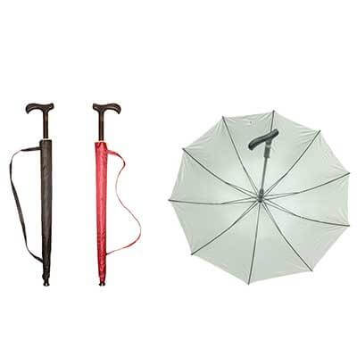 "23"" Walking Stick Umbrella with UV Protection"