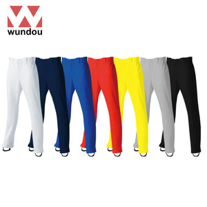 Wundou P2760 Full-Length Straight Baseball Trousers