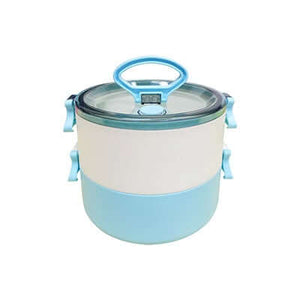2-Tier Lunch Box with 2-in-1 fork & spoon - abrandz