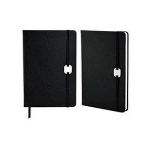 A5 Hard Cover Notebook with Metal Plate | Premium Notebooks | desk | AbrandZ: Corporate Gifts Singapore