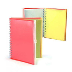 A5 Notebook with Zip Pouch Cover - abrandz