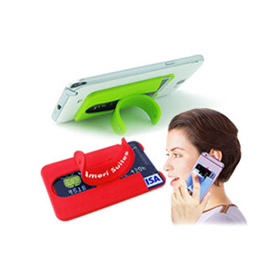 Custom Silicone Mobile Phone Wallet with Stand