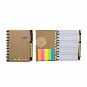 Notebook with Colour Post-its & Ballpen | AbrandZ Corporate Gifts Singapore
