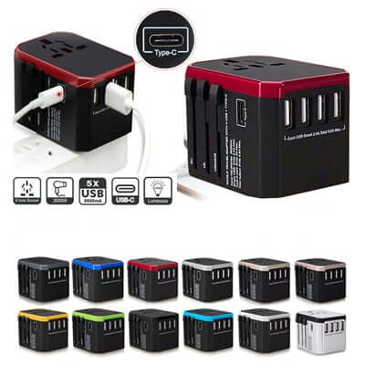 4 USB with Type-C Travel Adapter