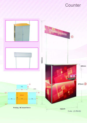 Aluminium Event Counter | AbrandZ Corporate Gifts Singapore