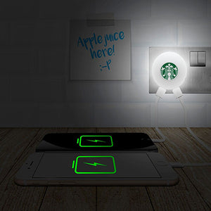 BrandCharger Glow2 Wall Plug USB Charger with Night light | AbrandZ Corporate Gifts Singapore