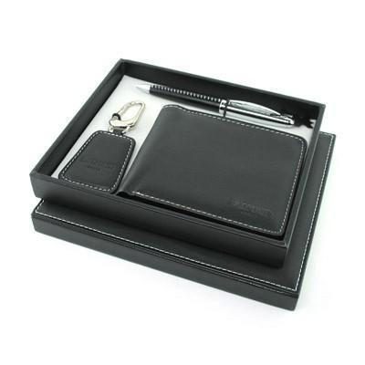Balmain Pen, Key Holder and Wallet Set - Black | AbrandZ.com