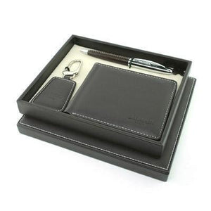 Balmain Pen, Key Holder and Wallet Set - Brown - abrandz