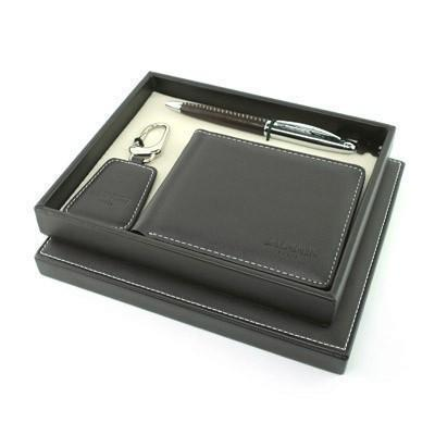 Balmain Pen, Key Holder and Wallet Set - Brown | AbrandZ.com