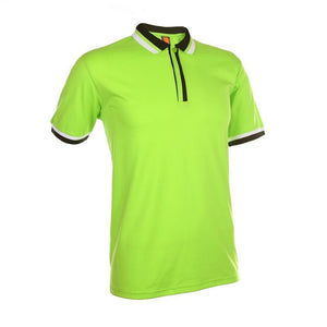 Basic Jersey Contrasting Polo T-shirt - abrandz