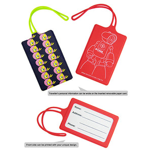 Custom Silicone Luggage Tag - AbrandZ Corporate Gifts Singapore