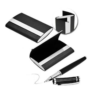 Card Holder and Pen Set | Name Card Holder, Premium Pen, Rollerball Pen | desk | AbrandZ: Corporate Gifts Singapore