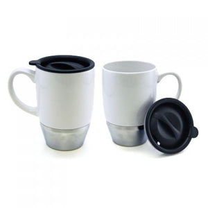 Ceramic Mug with Stainless Steel base | Mug | Drinkware | AbrandZ: Corporate Gifts Singapore