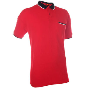 Classic Cotton Polo T-shirt with Reverse Colour Collar - abrandz