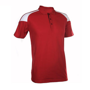 Classic Honeycomb Polo T-shirt with Shoulder Accents - abrandz