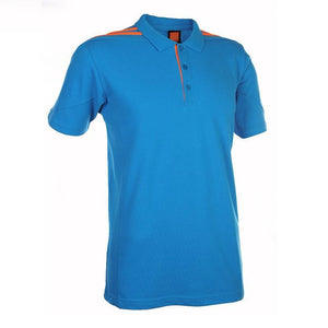 Classic Honeycomb Polo T-shirt with shoulder Striped Accents - abrandz