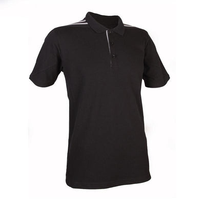 Classic Honeycomb Polo T-shirt with shoulder Striped Accents | Polo T-Shirt | apparel | AbrandZ: Corporate Gifts Singapore