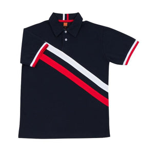 Classic Honeycomb Striped Polo T-shirt | AbrandZ Corporate Gifts Singapore