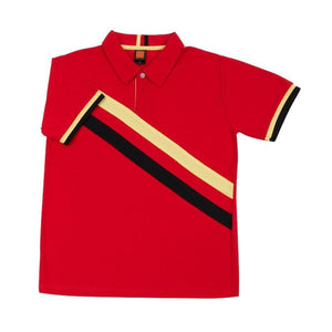 Classic Honeycomb Striped Polo T-shirt - abrandz