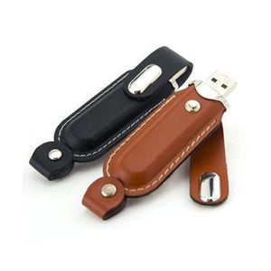Clip-on Leather USB Drive | AbrandZ Corporate Gifts Singapore