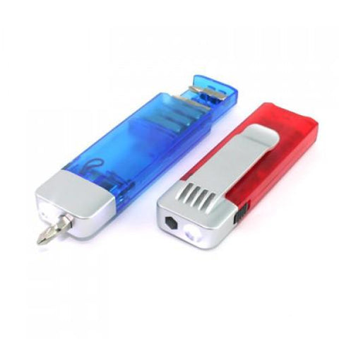 Compact Tool Kit withTorch (Red & Blue) | AbrandZ.com