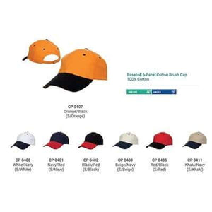 6 Panel Cotton Brushed Cap - abrandz