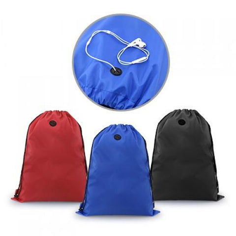Drawstring Bag With Ear Pieces Eyelet | AbrandZ.com