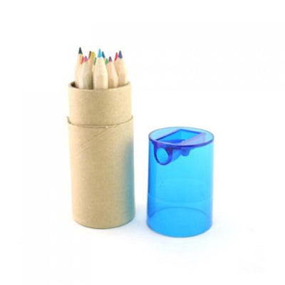 Eco Friendly 12pcs Mini Coloured Pencil W Sharpener | AbrandZ.com
