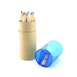 Eco Friendly 12pcs Mini Coloured Pencil W Sharpener | Pencil | Stationery | AbrandZ: Corporate Gifts Singapore