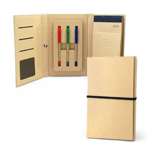 Eco-friendly A5 Notepad With 3 Colours Ball Pen | Notebook and Pen Gift Set | Eco-Friendly | AbrandZ: Corporate Gifts Singapore