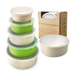 Eco Friendly Bamboo Fiber Container Set - abrandz