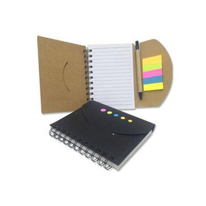 Eco Friendly Notebook With Pen & Post It - abrandz