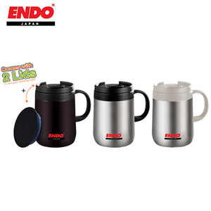 ENDO 480ml Double Stainless Steel Mug