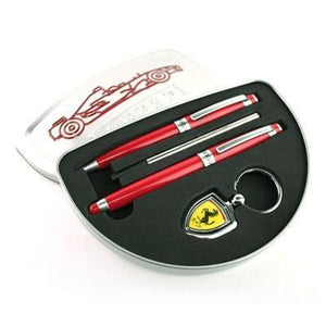 Ferrari MC Ballpoint and Rollerball Pen with Keychain in Tin Box | Ballpoint Pen, Key Holder, Premium Pen, Rollerball Pen | desk | AbrandZ: Corporate Gifts Singapore