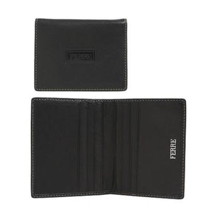 Ferre Leather Card Holder wtih Beige Stitching | AbrandZ: Corporate Gifts Singapore