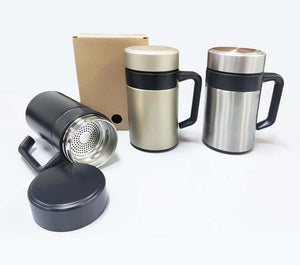 350ml Double Wall Thermos Mug with Filter - abrandz