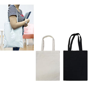 Cotton Canvas Bag with White Handle - abrandz