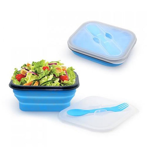 Foldable Lunch Box with Cutlery Set | AbrandZ.com