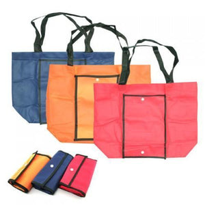 Foldable Shopping Bag with Plastic Buttons - Corporate Gifts Singapore