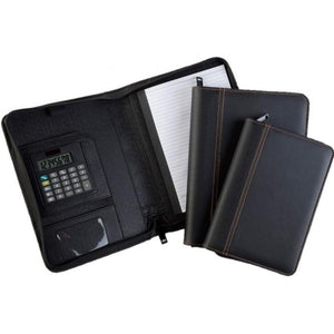 Folder with Zip and Calculator | Calculator, Leather Portfolios | desk | AbrandZ: Corporate Gifts Singapore