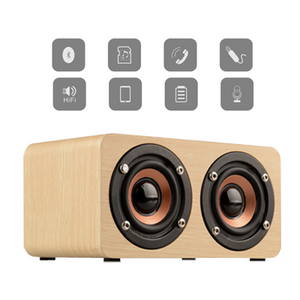 Bluetooth Wooden Speaker with Built-in Battery | AbrandZ Corporate Gifts Singapore
