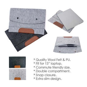 13'' Felt and PU Leather Ipad Tablet Sleeve | AbrandZ Corporate Gifts Singapore