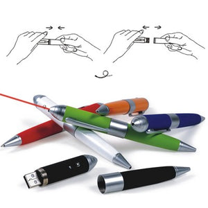 Pen USB Flash Drive with Laser Pointer - abrandz