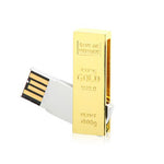 Gold Swivel USB Flash Drive